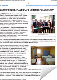 Inaugurazione Hospice La Limonaia a Lamporecchio