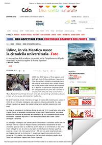 università di Udine inaugurazione via mantica
